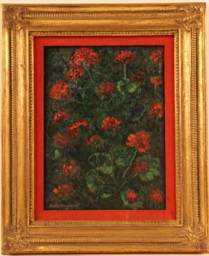 Floral Still Life Geraniums by Boris Dimitrevich GRIGORIEV