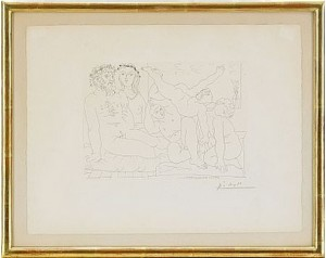 Famille De Saltimbanques - Suite Vollard Pl. 54 by Pablo PICASSO