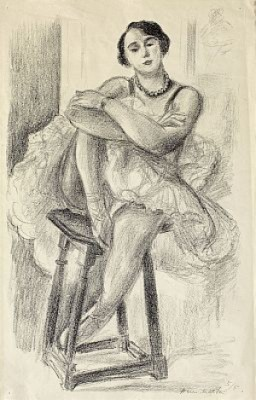 Dix Danseuses: Danseuse Au Tabouret by Henri MATISSE