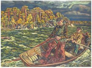 Fiskare I Eka by Olle NORDBERG