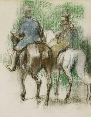 Cavalier Et Amazone by Edgar DEGAS