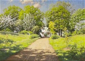 Trädgårdslandskap by Johan KROUTHÉN