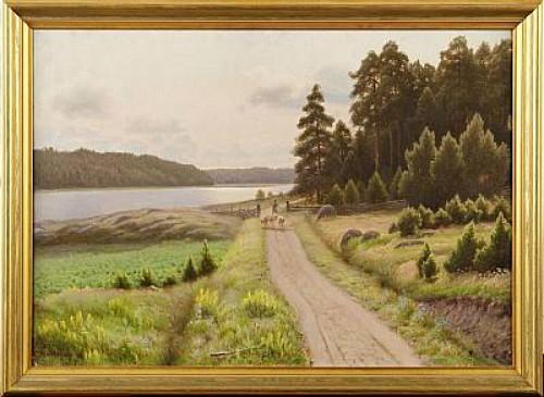 Insjölandska by Carl Wilhelm JAENSSON