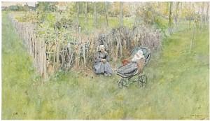 Flickan I Det Gröna by Carl LARSSON