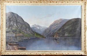 Fjordlandskap by Sigvard SIMENSEN