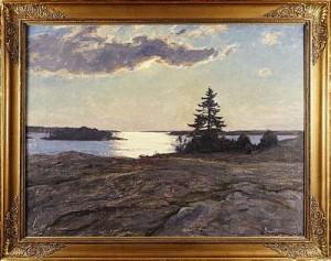 Skärgårdslandskap by Gottfrid KALLSTENIUS