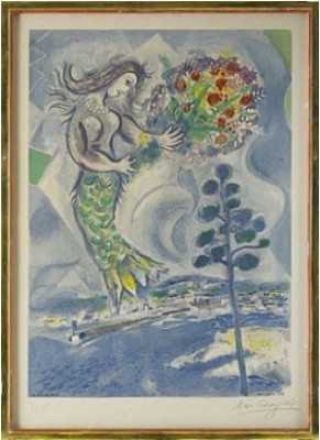 Sirène Au Pin by Marc CHAGALL
