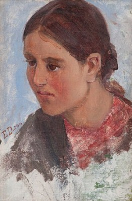 Portrait Of A Girl by Elin 'E Dson' DANIELSON-GAMBOGI