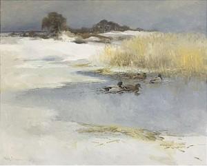 änder I Vinterlandskap by Mosse STOOPENDAAL