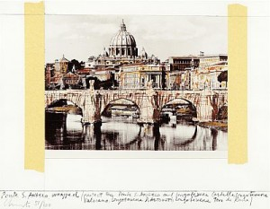 Ponte S. Angelo, Wrapped by Christo JAVACHEFF
