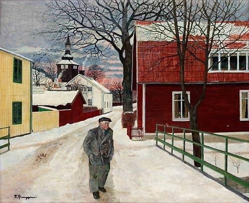 Vintermotiv Från Trosa by Reinhold LJUNGGREN