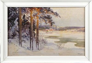 Vinterlandskap Vid Sjö, by Carl BRANDT