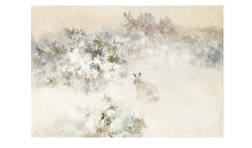 Hare I Vinterlandskap by Mosse STOOPENDAAL