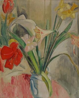Stilleben Med Blommor by Isaac GRÜNEWALD