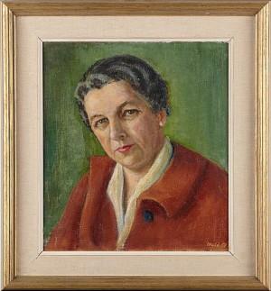 Porträtt Av Elly Hellner by Edward HALD