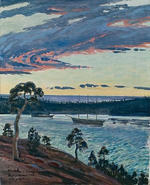 Aftonrodnad över Västra Hamnen by Erik JUSELIUS