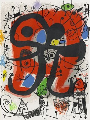 Le Lezard Aux Plumes D Or by Joan MIRO