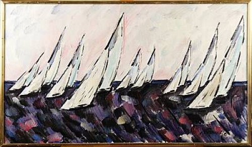 Segelbåtar by Ivar FRANKE