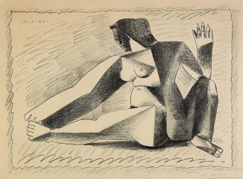 Femme Accroupie Au Bras Levé, Bloch 791 by Pablo PICASSO