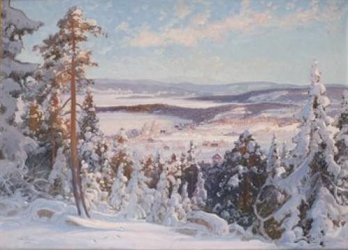 Vinterlandskap by Carl BRANDT