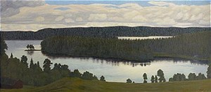 Skymningslandskap by Hilding WERNER