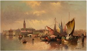 Blick über Den Canale Della Giudecca Auf Venedig by Karl KAUFMANN
