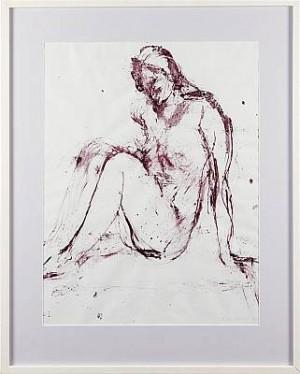 Komposition Med Sittande Modell by Peter TILLBERG
