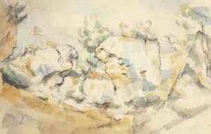 Rochers à Bibémus by Paul CÉZANNE