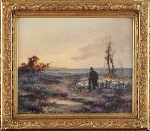 Landskap Med Fåraherde by Mikhail KOROCHANSKY