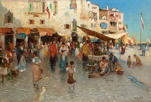 Fisktorg Från Chioggia by Wilhelm Von GEGERFELT