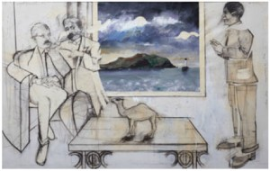 La Rencontre Joyce Proust Picasso 18 Mai 1917 by Michael FARRELL
