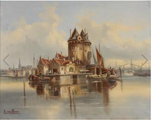 Hamnstad by Karl KAUFMANN