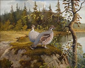 Forest Birds by Ejnar KOHLMANN
