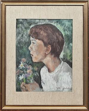 Pojke Med Blommor by Lotte LASERSTEIN