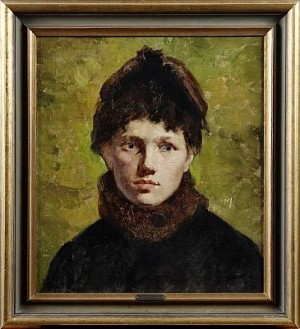Kvinnoporträtt by Emil ÖSTERMAN