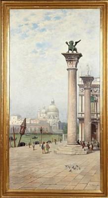 Markusplatsen, Venedig by Frans Wilhelm ODELMARK
