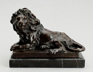 Liggande Lejon by Antoine-Louis BARYE