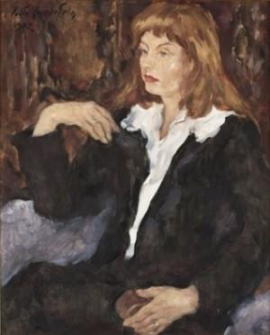 Kvinna I Vit Blus by Lotte LASERSTEIN