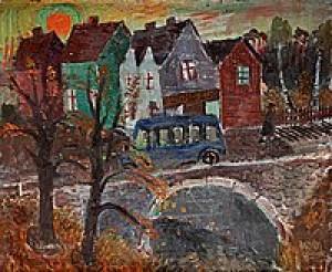 Den Blå Bussen, Hagalund by Olle OLSSON HAGALUND