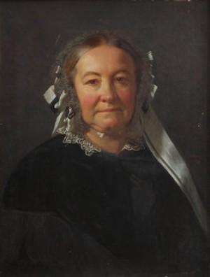 Porträtt Av Fru Maria Elisabeth Af Forselles, F. Elfvendahl (1800-1880) by Carl Theodor STAAFF