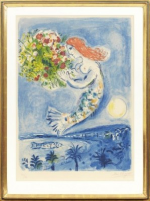 """la Baie Des Anges"" From The Serie ""nice Et La Côte D'azur"" by Marc CHAGALL"
