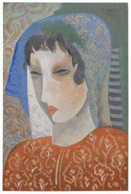 Mädchen Mit Geneigtem Blick (frauenkopf) by Béla KÁDÁR