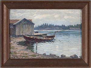 Strandparti Från Ulfön, Västernorrland by Carl JOHANSSON