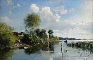 Solbelyst Kustlandskap by Olof KRUMLINDE