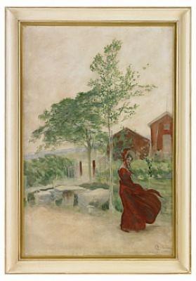 I Blåsten/ett Vindkast/stina by Carl LARSSON