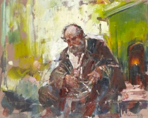 Portrait Of An Old Man by Stepan Fedorovich KOLESNIKOFF
