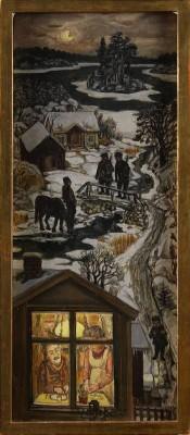 Vinterlandskap Med Jägare by Olle NORDBERG