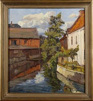 Motiv Från Karlshamns Hamn by Karl BERGMAN