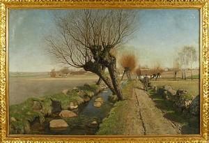 Landskapsvy Från Skåne by Peter Adolf PERSSON