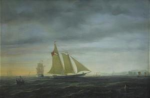 Fartyg I Aftonrodnad by Per Wilhelm CEDERGREN